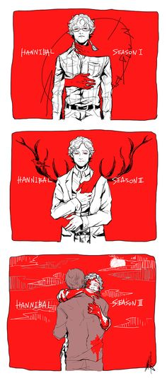 Hannibal fan art. Source: soyogi-bon.tumblr