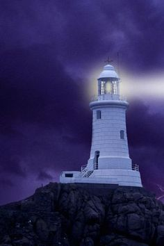 Yes the light from that old lighthouse that stands up there on the hill .
