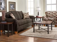 Living Room  Hughes  Cannon Smoke 4375. Coordinates With 3020 Chair.  Available · Furniture CompaniesFurniture ...