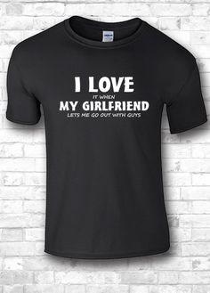 Design t shirts I love my girlfriend I love by FourSeasonsTshirt