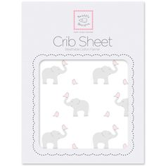 So soothing on a cold winter's night! Flannel Fitted Crib Sheet - Elephant & Chickies SAVE 40% today!