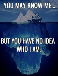 You may know me but you have no idea who I am.