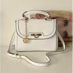 USD12.99Cheap Women Fashion Hasp Design Solid Off White PU Slanting Bag