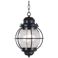 Elton 1-light Black Indoor/ Outdoor Hanging Lantern | Overstock.com Shopping - Big Discounts on Wall Lighting