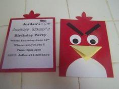 Invitacion de cumpleaños Angry Birds