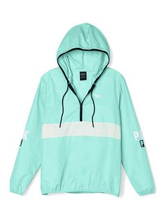 Victoria's Secret PINK Anorak Pullover Jacket Windbreaker Mint/Green Med/Lg New Pullover Jacket, Pullover Pink, Half Zip Pullover, Sweater Jacket, Windbreaker Jacket, Blue Hoodie, Zip Hoodie, Bomber Jacket, Pink Outfits