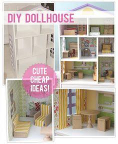 Maak een betaalbaar poppenhuis zelf! Met leuke ideeën op de website.