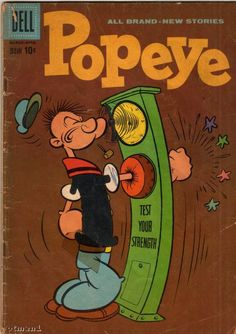 Popeye, No.52. Bud Sagendorf's version of Popeye was a another tremendous influence on me. One of my favorite characters ever.
