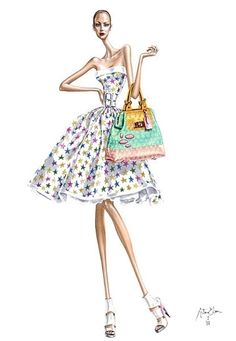 Feminine & Fabulous! - a collection by Tiffany Tank; illustration by Arturo Elena