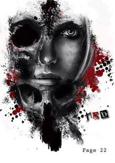Risultati immagini per Grim Reaper Trash Polka Tattoos