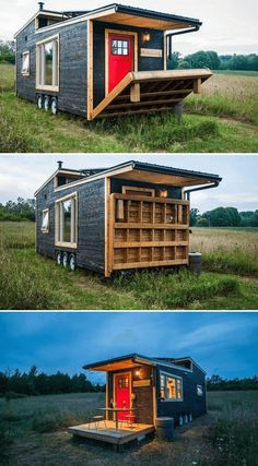 Dreaming of living in your very own tiny house? If you are on a tiny budget for your tiny house, why not build it yourself? Here are 5 DIY Tiny House Plans. Best Tiny House, Modern Tiny House, Tiny House Cabin, Tiny House Living, Tiny House Plans, Tiny House On Wheels, Tiny House Exterior Wheels, Tiny House Trailer Plans, Small House Diy