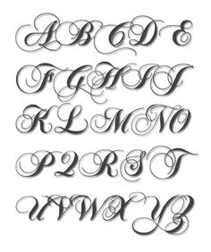 Embroidery Alphabet: Chopin Font in 4 sizes.