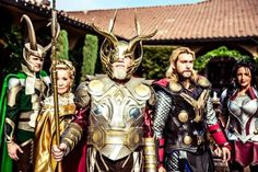 Asgardians, Thor: The Dark World, by L.A Jaze Cosplay and a few friends, photo by Surrealsister Photog. Thor Cosplay, Superhero Cosplay, Loki Costume, Cosplay Costumes, Amazing Cosplay, Best Cosplay, Group Cosplay, Superman, Batman