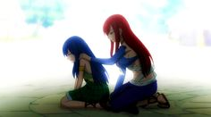 """""""I know all too well the pain of losing a loved one, but you'll heal. We'll help you. Come with us, be a part of Fairy Tail."""""""