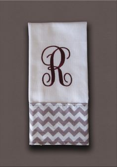monogrammed bath kitchen decorative hand towel by raleighgram 1399 - Decorative Hand Towels