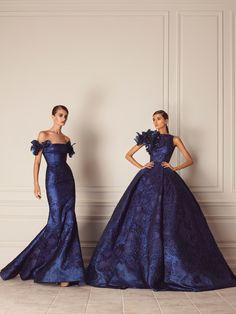 #HamdaAlFahim #gown #blue #applique #inspiration #art #artisans #floral #beautiful #couture #abudhabi #designer #fantasy #bare #back #fall #winter #fashion #dress