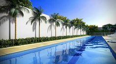 Para quem gosta de dar boas braçadas, outro atrativo é a piscina com raia de 25 m.