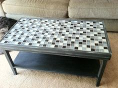 Mosaic TileTop Coffee Tables Mosaics - Coffee table with tile inlay