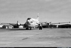 USAF Douglas C-124C Globemaster II 51-0151 (cn 43485) Support a/c for USAF Crowflight deployments. Note WU-2 66705 in background.