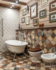 Foto Related posts: Wohnung in Moskau: Innenarchitektur, Foto Toilet And Bathroom Design, Bathroom Interior Design, Bathroom Wall, Farmhouse Kitchen Tables, Modern Farmhouse Kitchens, Log Home Bathrooms, Wood Bathtub, Bathtub Ideas, Bathroom Ideas
