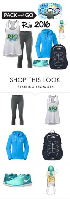 """""""Rio Olympics 2016-Team America!"""" by shoppingismycardio99 on Polyvore featuring The North Face and NIKE"""