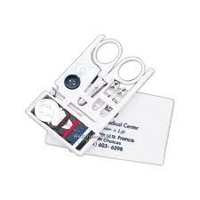 Credit card size sewing kit