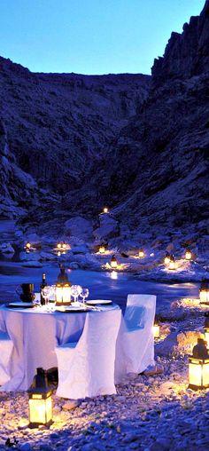 romantic Alfresco dining