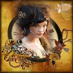 Steampunk ~ 2014 | Digital Scrapbooking at Scrapbook Flair ❤ liked on Polyvore featuring steampunk