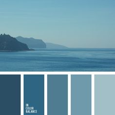 color combo ... seaside on a hazy day inspiration ... monochrome blues in ombre palette ...