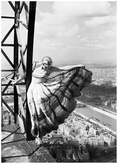 maudelynn:    Model, and Ballerina, Lisa Fonssagrives on the Eiffel Tower c.1939  via http://www.labelleinfrance.com