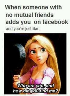 Rapunzel and a Stranger on Facebook...
