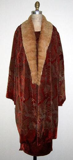 """Evening Ensemble"" - Designer: Maria Gallenga, Italian, Date: 1920's, Culture: Italian Medium: Silk, Glass, Fur."