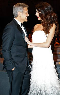 George Clooney & Amal Clooney The A-list couple share a special moment during the Cesar Film Awards Ceremony in Paris, France on February 2017