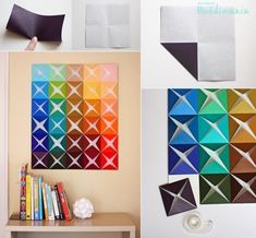... paper craft wall decoration step by step DIY tutorial instructions ... This is one I like! See more awesome stuff at http://craftorganizer.org