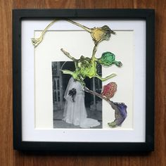 "#EmilyHornum - 'On Her Wedding Day, 2016, photographic print and water colour collage. Framed,  12"" x 12"" $120   . . . #Artforsale #australianartist #collage #photomedia #photography #foundphotos #watercolour #memory #buyart #contemporaryart #art"