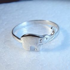 Elephant ring sterling silver:)