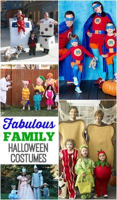 15 Fabulous Family Costume Ideas. Coordinate your family Halloween costume to create a fun tradition! #familyhalloweencostumes
