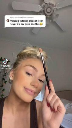 Edgy Makeup, Skin Makeup, Eyeshadow Makeup, Makeup Tutorial Eyeliner, Makeup Looks Tutorial, Makeup Videos, Makeup Tips, Beauty Makeup, No Make Up Make Up Look