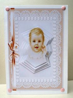 Sweet baby girl on Craftsuprint designed by Angela Wake - made by Audrey  Clifford -