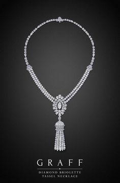 Graff Diamonds: Diamond Briolette Tassel Necklace