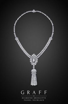 Graff Diamonds: Diamond Briolette Tassel Necklace