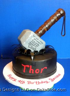 Thor Cake by Michelle's Cake Designs on www.cakeside.com!