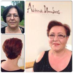 #make-over #make-up #haircut #shorthair #redhair #womanshorthair