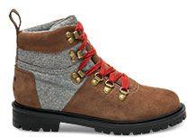 NOUVEAU  Summit Boots en daim imperméable brut et laine grise pour femme