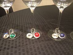 Wire Wrapped Jeweled Wine Charms  $16.00