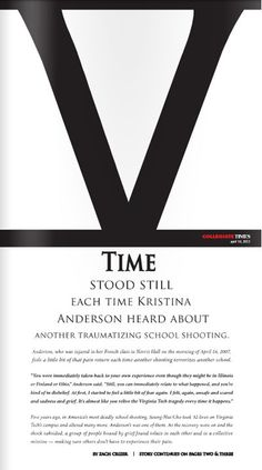Stunning front page to commemorate the 5 year anniversary of the Virginia Tech massacre. via the Collegiate Times (VT's student paper)