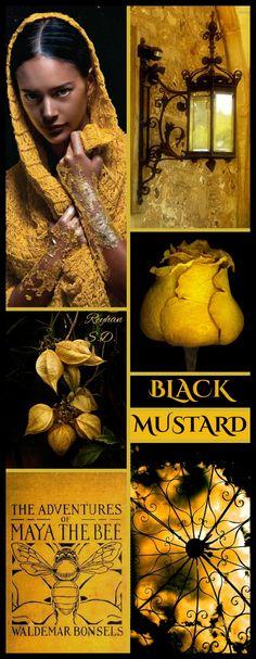 '' Black & Mustard '' by Reyhan S.D.
