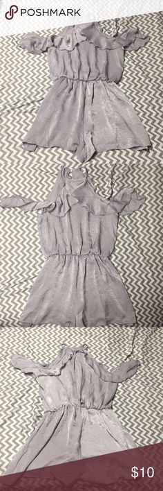 Charlotte Russe Purple Romper (Never Worn) Soft purple romper with delicate ruffles and beautiful keyhole back. Never worn. Charlotte Russe Dresses