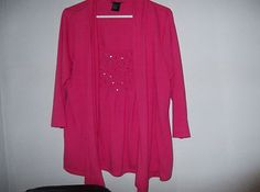 RQT brand womens size Large dressy blouse (with bling/pink)