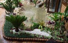 Resultado de imagem para jardim pequeno de canto de muro